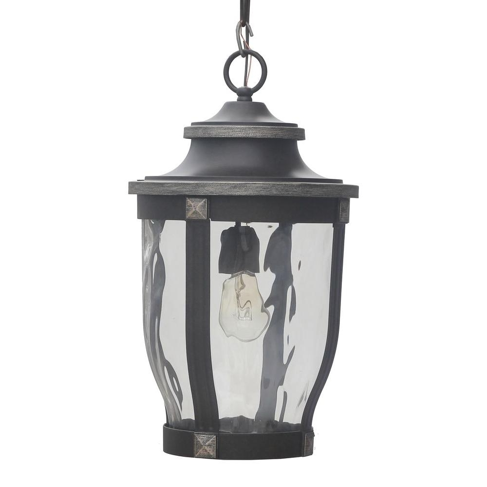 Home Depot Outdoor Lanterns For Well Known Home Decorators Collection Mccarthy 1 Light Bronze Outdoor Chain (View 9 of 20)