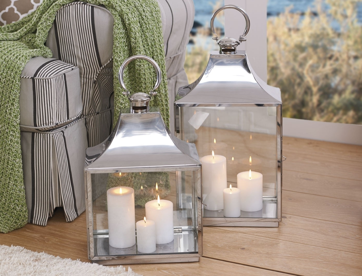 Household Pillar Candles – Ivory Inside Fashionable Outdoor Lanterns And Votives (View 7 of 20)