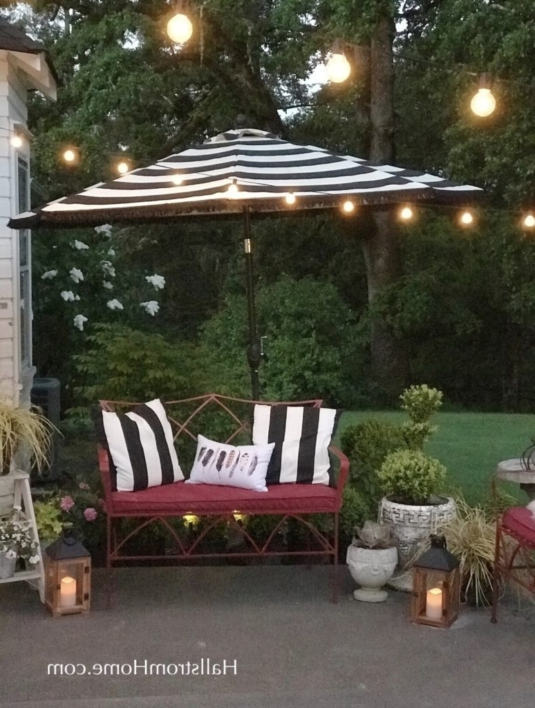 How To Add Fringe To A Outdoor Umbrella ~ Hallstrom Home Within Newest Patio Umbrellas With Fringe (Gallery 16 of 20)
