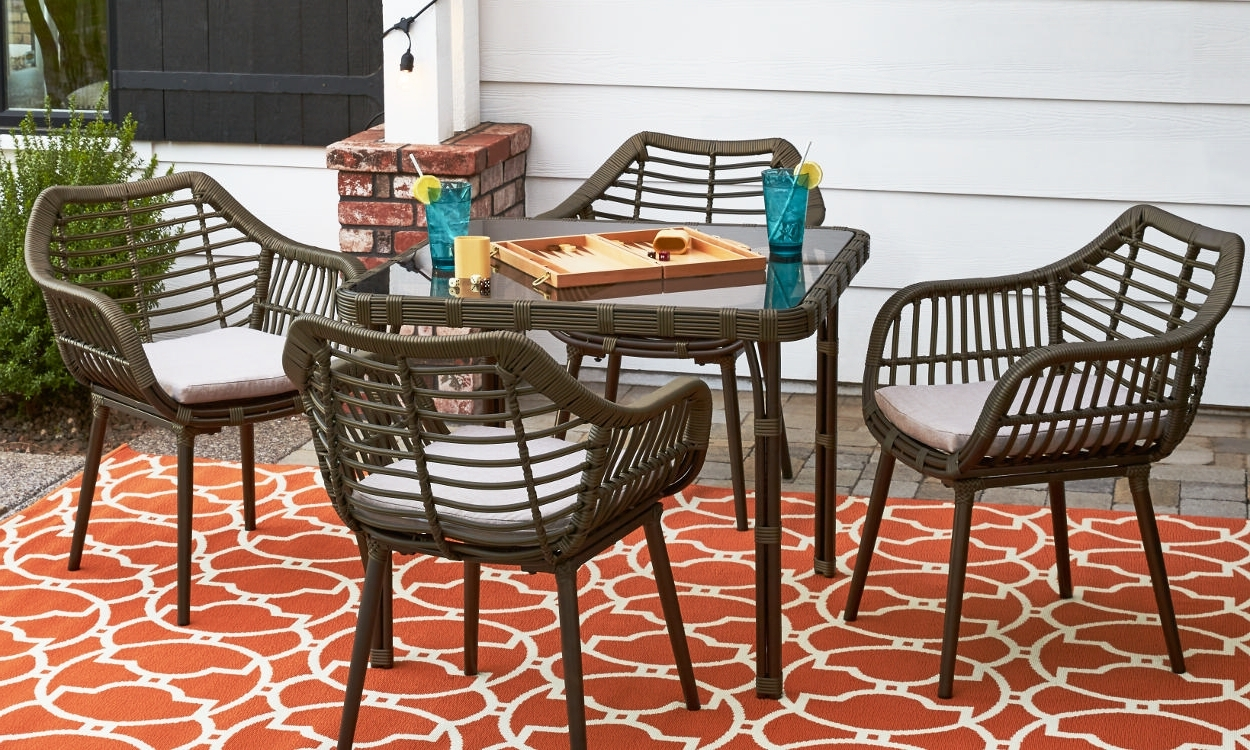 How To Choose Patio Furniture For Small Spaces – Overstock For Most Popular Patio Umbrellas For Small Spaces (Gallery 2 of 20)