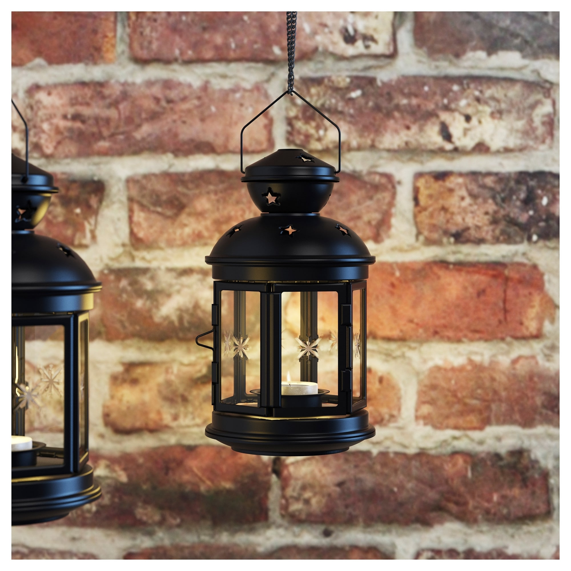 Ikea Outdoor Lanterns With Regard To Recent Rotera Lantern For Tealight In/outdoor Black 21 Cm – Ikea (View 11 of 20)