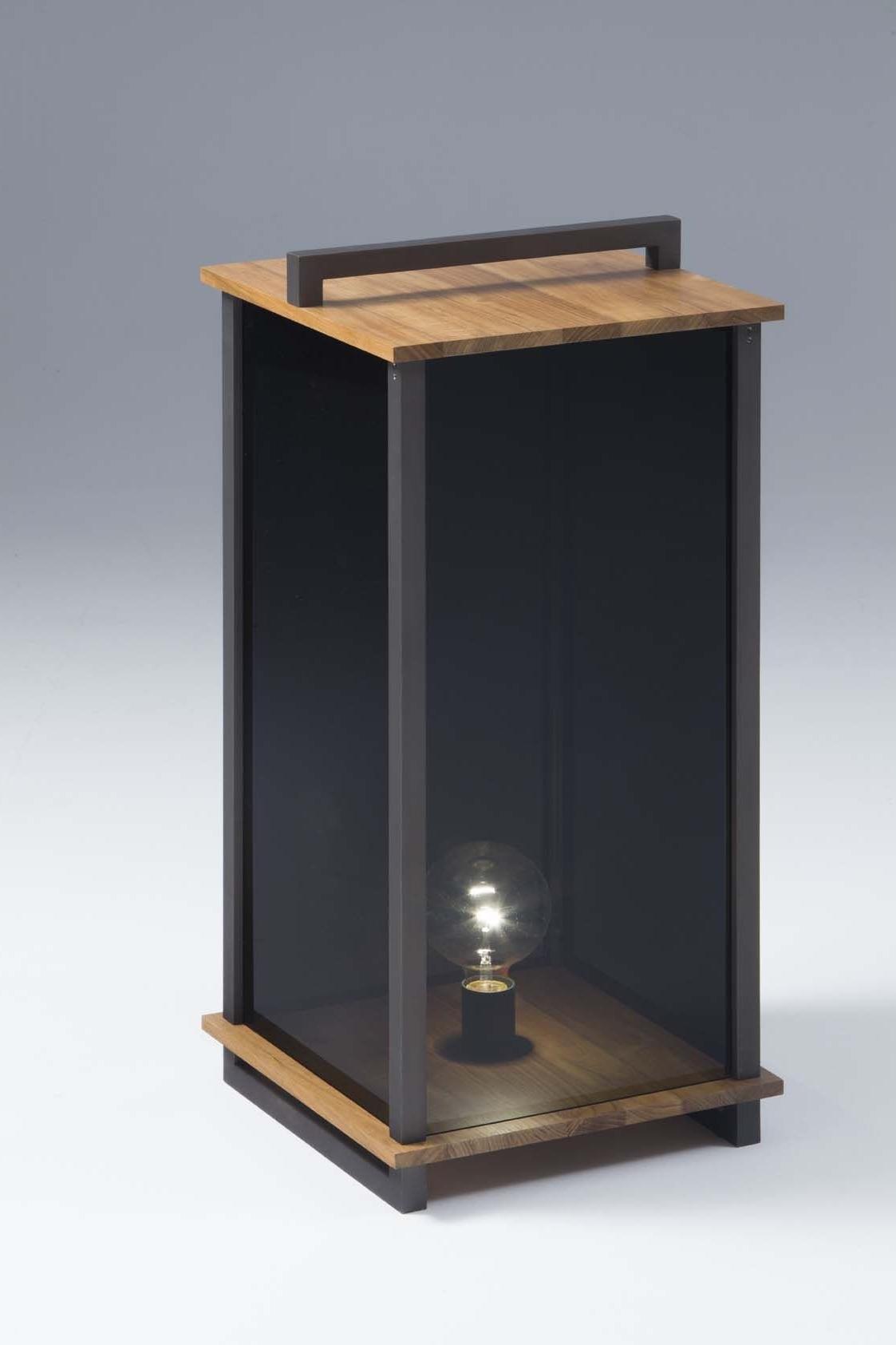 Ikon L Lantern Teak Wood – Burnished (View 5 of 20)