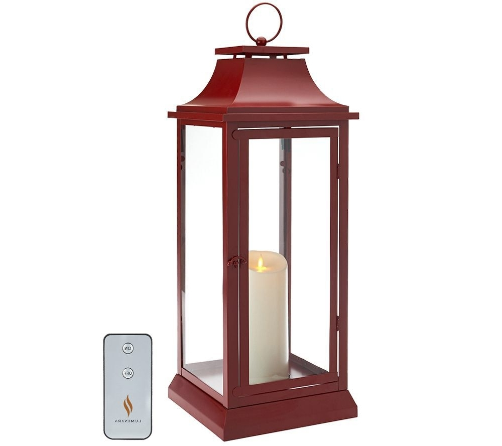"Indoor Outdoor Lanterns Regarding Most Popular Luminara 25"" Heritage Indoor Outdoor Lantern With Flameless Candle (View 10 of 20)"