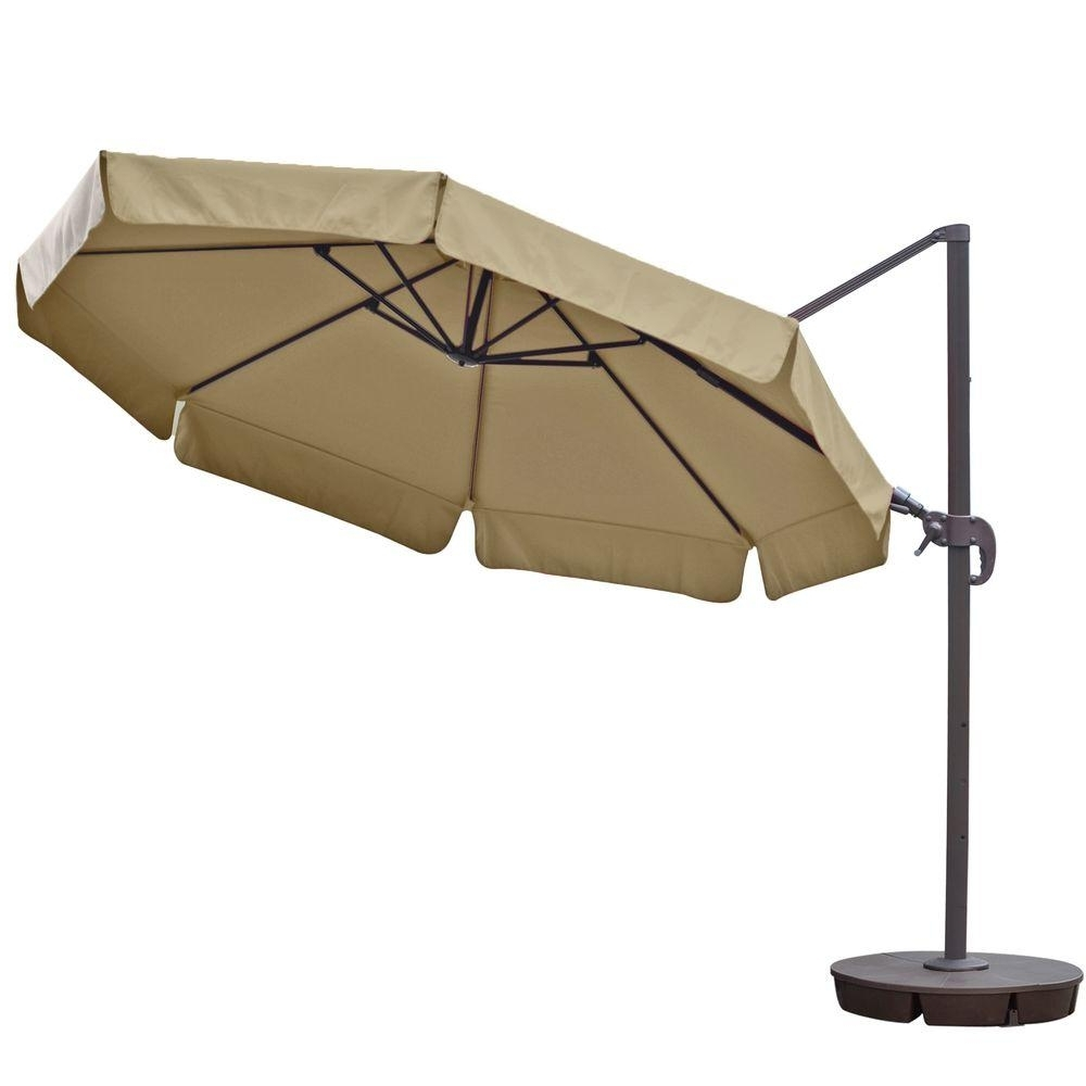 Island Umbrella Freeport 11 Ft. Octagon Cantilever With Valance For Current 11 Ft (View 17 of 20)