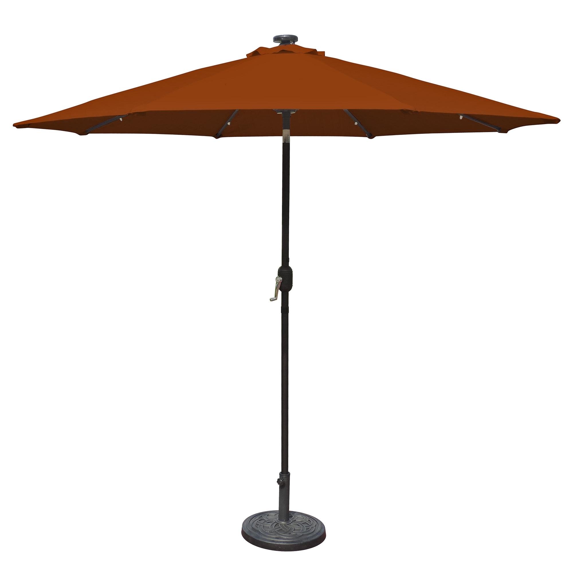 Island Umbrella Mirage Fiesta 9 Ft Market Solar Led Auto Tilt Patio Inside Preferred Led Patio Umbrellas (View 9 of 20)