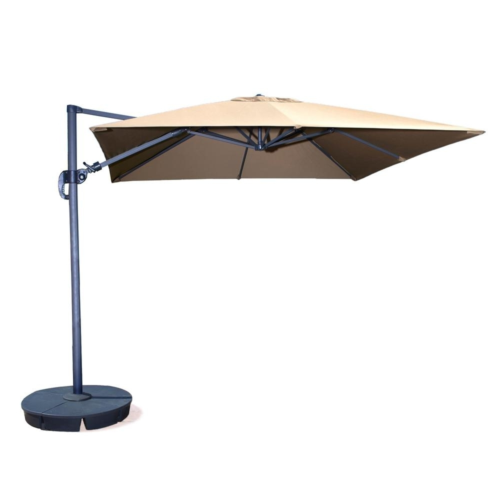 Island Umbrella Santorini Ii 10 Ft. Square Cantilever Patio Umbrella With Regard To Most Current Square Patio Umbrellas (Gallery 15 of 20)
