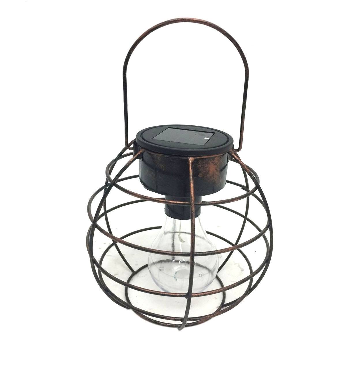 Joanns Outdoor Lanterns For Most Popular Hello Spring Round Cage Solar Hanging Lantern Bronze (View 8 of 20)