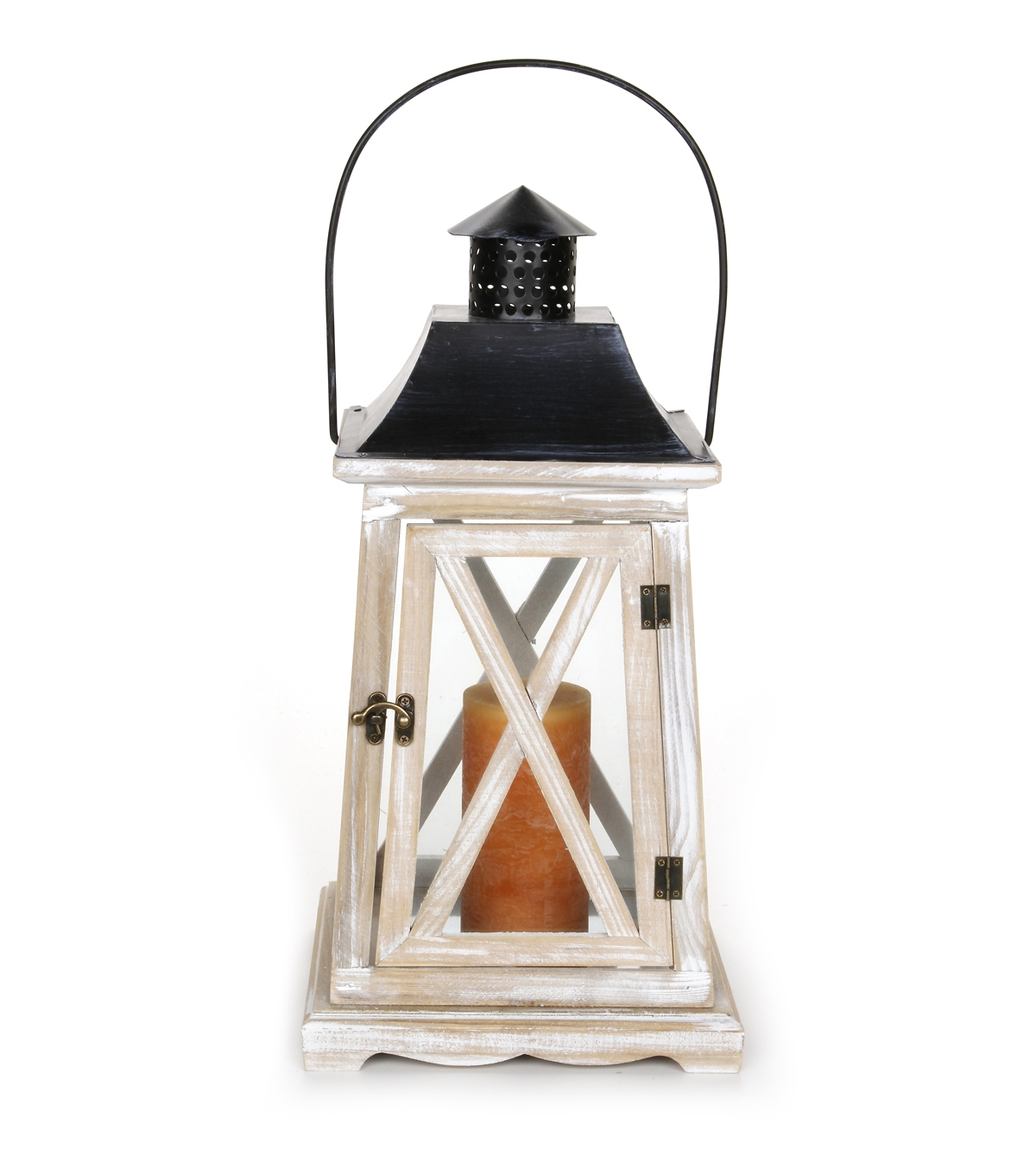 Joanns Outdoor Lanterns Intended For Most Up To Date Wooden Lantern  9 X 9 X 18 Inches (View 16 of 20)