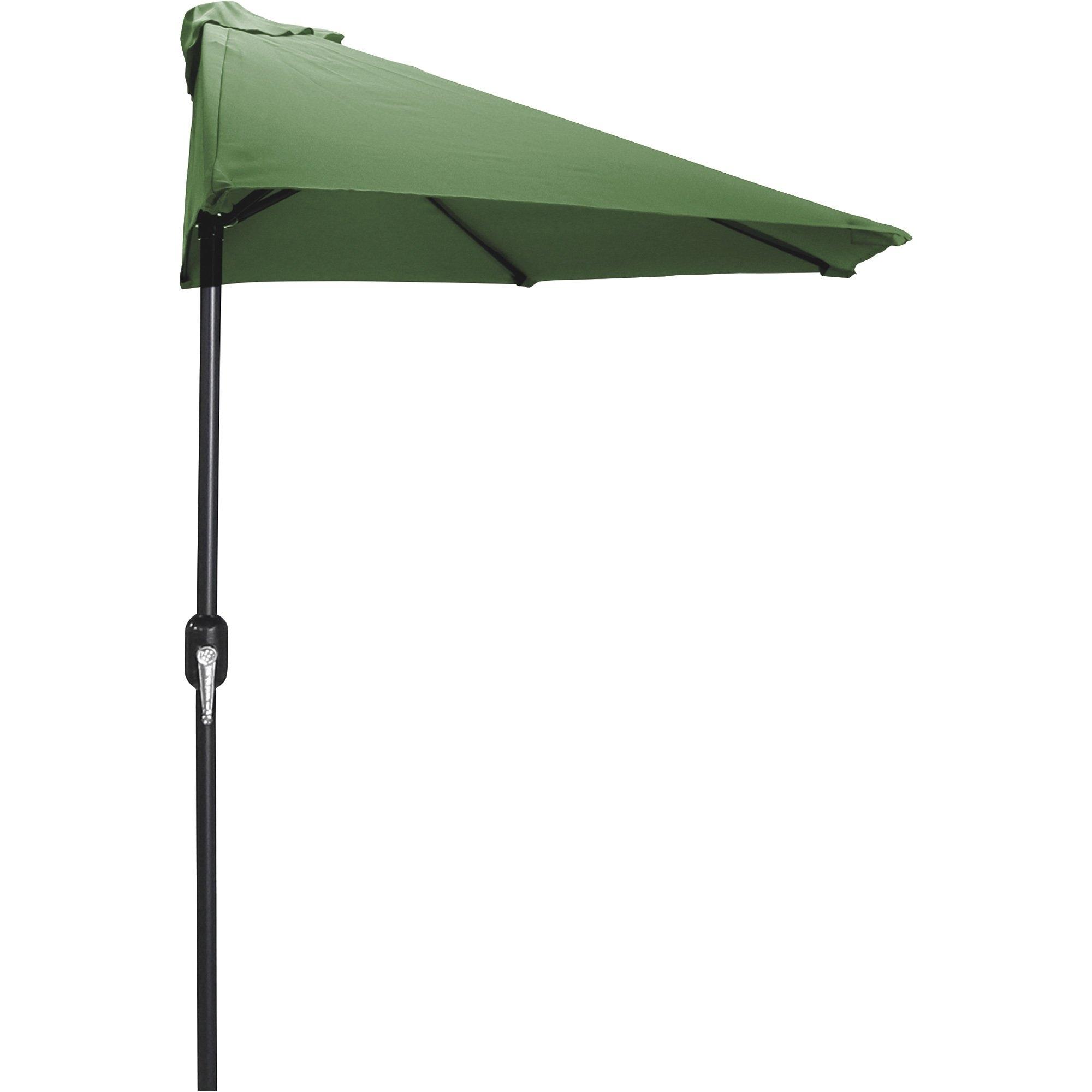 Jordan Manufacturing 9Ft. Half Market Crank Patio Umbrella (Gallery 9 of 20)