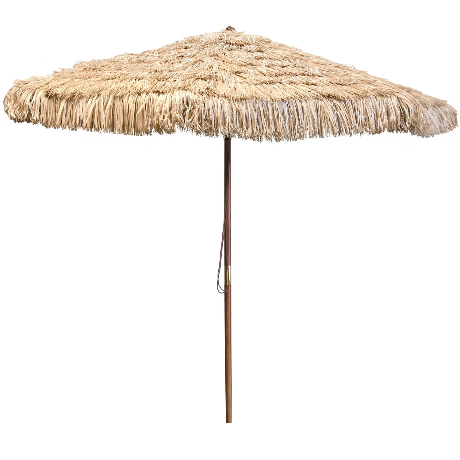Jordan Manufacturing Company Natural Wooden Hula Umbrella Ump903 Pertaining To Widely Used Jordan Patio Umbrellas (View 15 of 20)