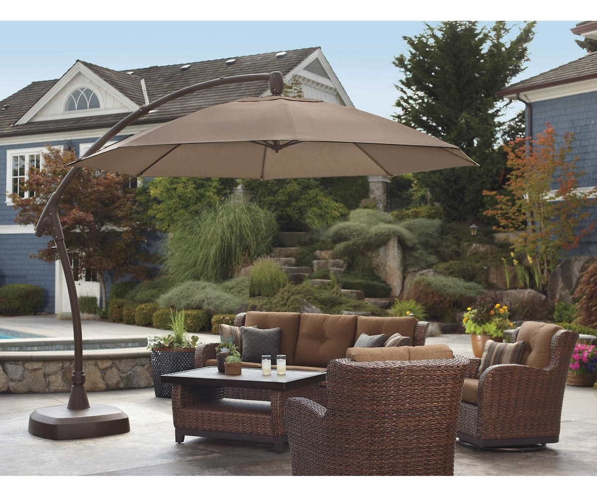 Jordan Patio Umbrellas Intended For Best And Newest Cozy Brown Jordan Outdoor Furniture Stands Test Then Style To (View 7 of 20)
