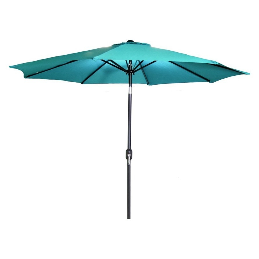 Jordan Patio Umbrellas Intended For Famous Shop Jordan Manufacturing Aruba Market 9 Ft Patio Umbrella At Lowes (Gallery 1 of 20)
