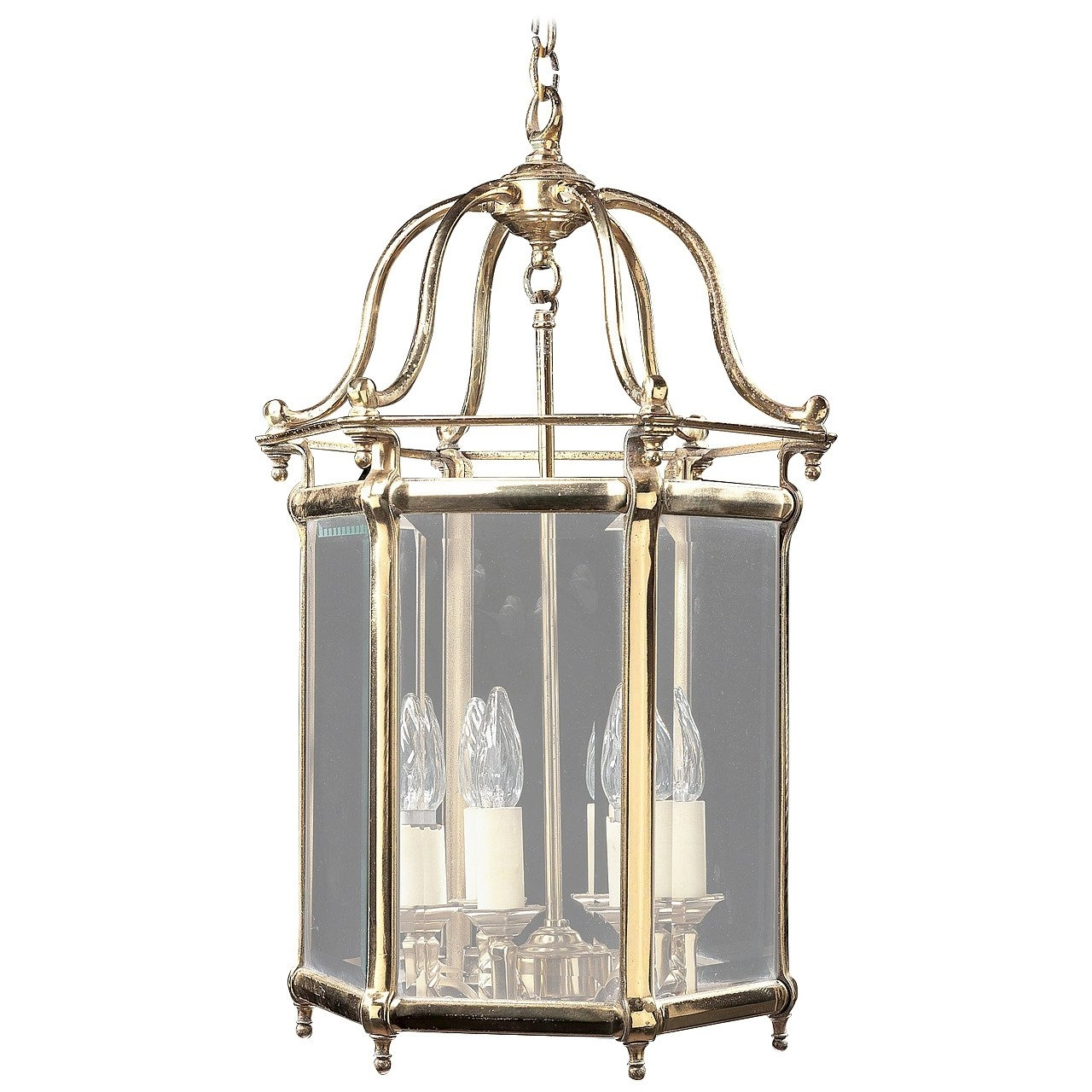Jumbo Outdoor Lanterns For Recent Brass Outdoor Lantern Porch Light Exterior Applique Sconce, 20Th (View 7 of 20)