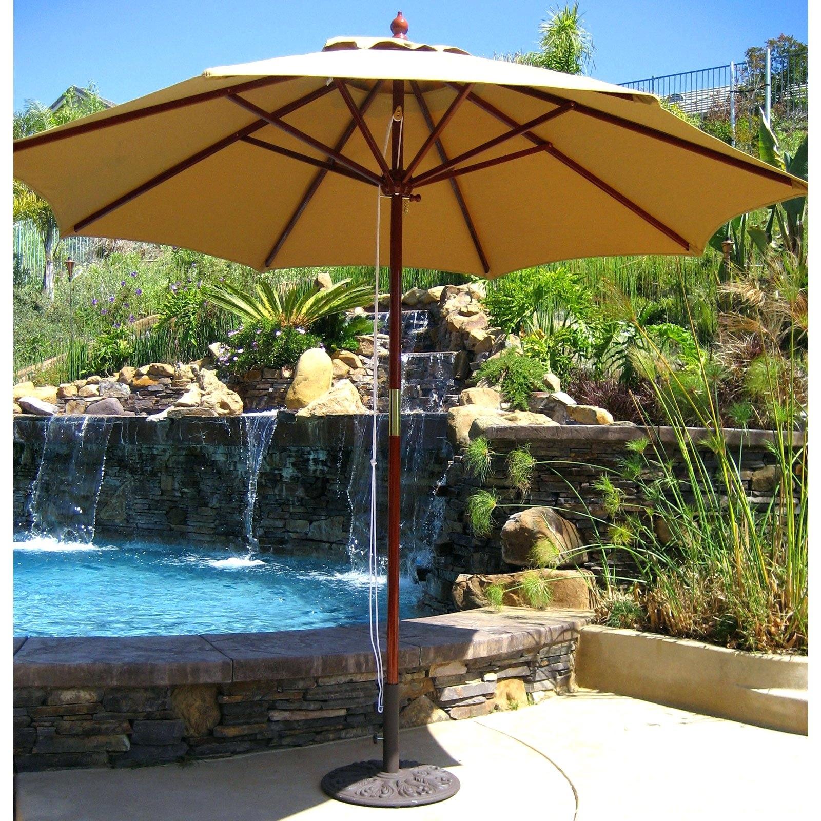 Jumbo Patio Umbrellas Inside Fashionable Patio Ideas ~ Patio Umbrella Half Round Giant Patio Umbrellas Jumbo (View 5 of 20)