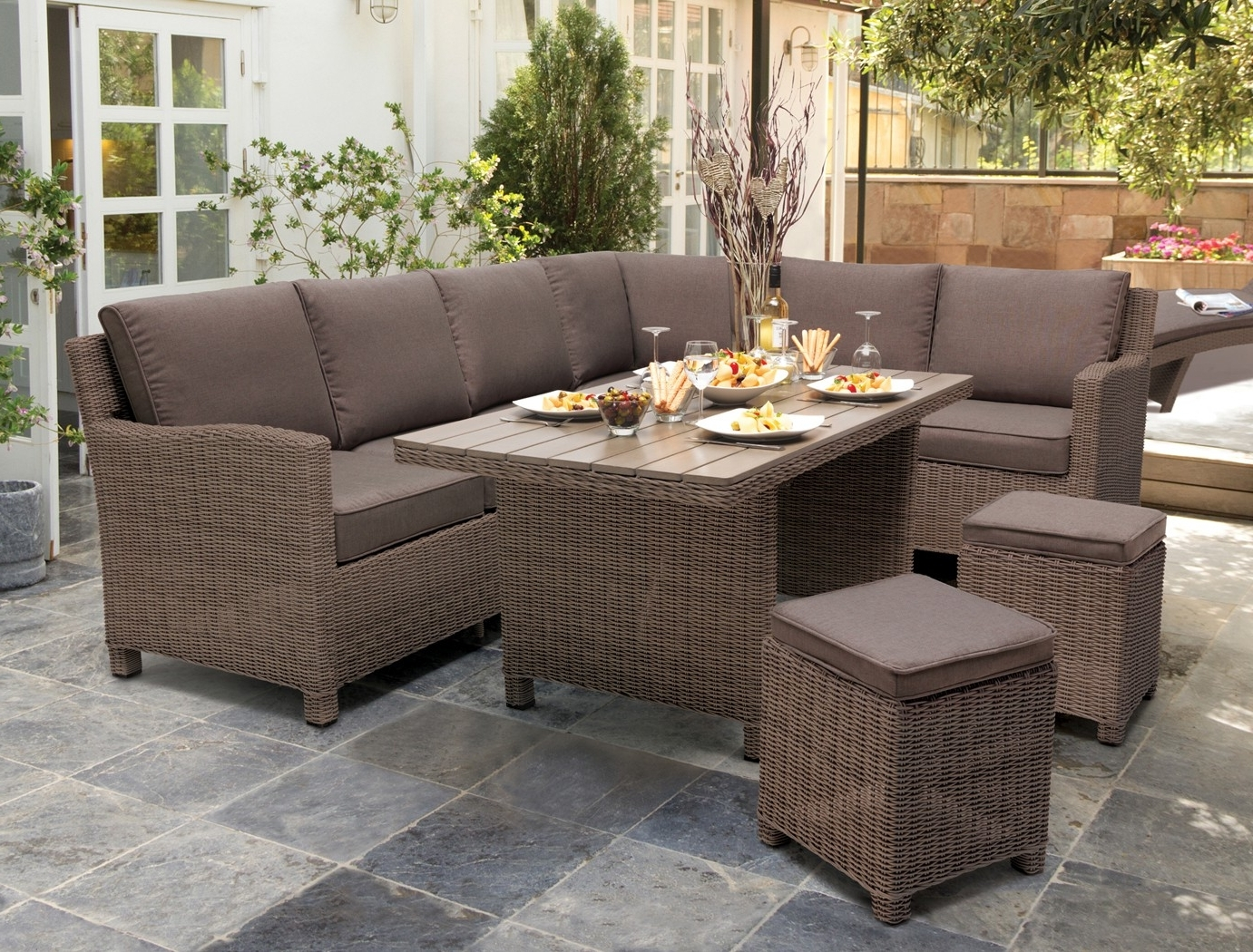Kettler Palma Corner Set – Kettler Furniture – Patio Furniture Intended For Well Known Krevco Patio Umbrellas (Gallery 8 of 20)