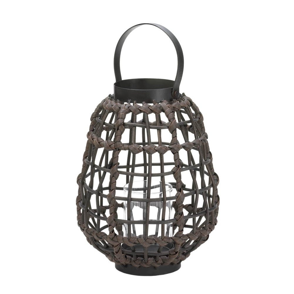 Knotted Rattan Candle Lantern, Candle & Holders, Stylish Home And With Current Outdoor Rattan Lanterns (View 12 of 20)