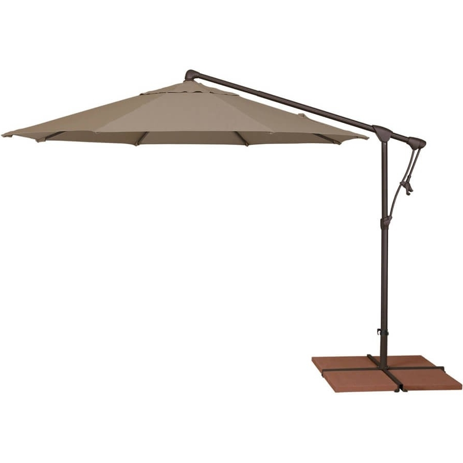 Krevco Patio Umbrellas Inside Popular 10' Octagon Cantilever Patio Umbrella (View 8 of 20)