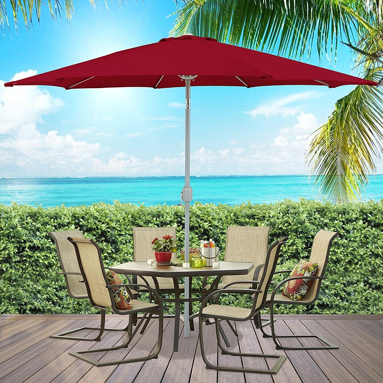 Ktaxon 9 Ft Outdoor Patio Yard Umbrella Aluminum Beach Sunshade With Regard To Preferred Walmart Umbrellas Patio (View 5 of 20)