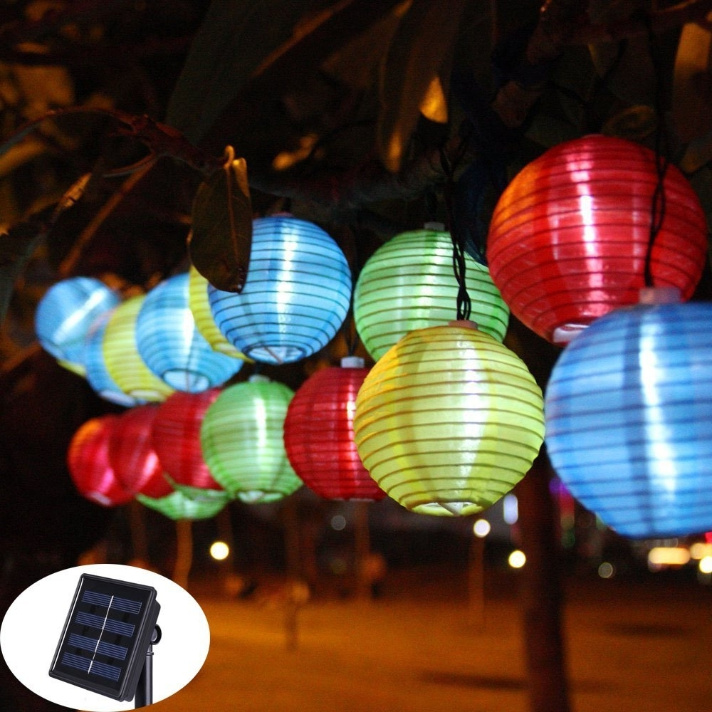Lantern Ball Solar String Lights 30 Led Solar Lamp Outdoor Lighting Throughout Famous Outdoor Vietnamese Lanterns (View 8 of 20)