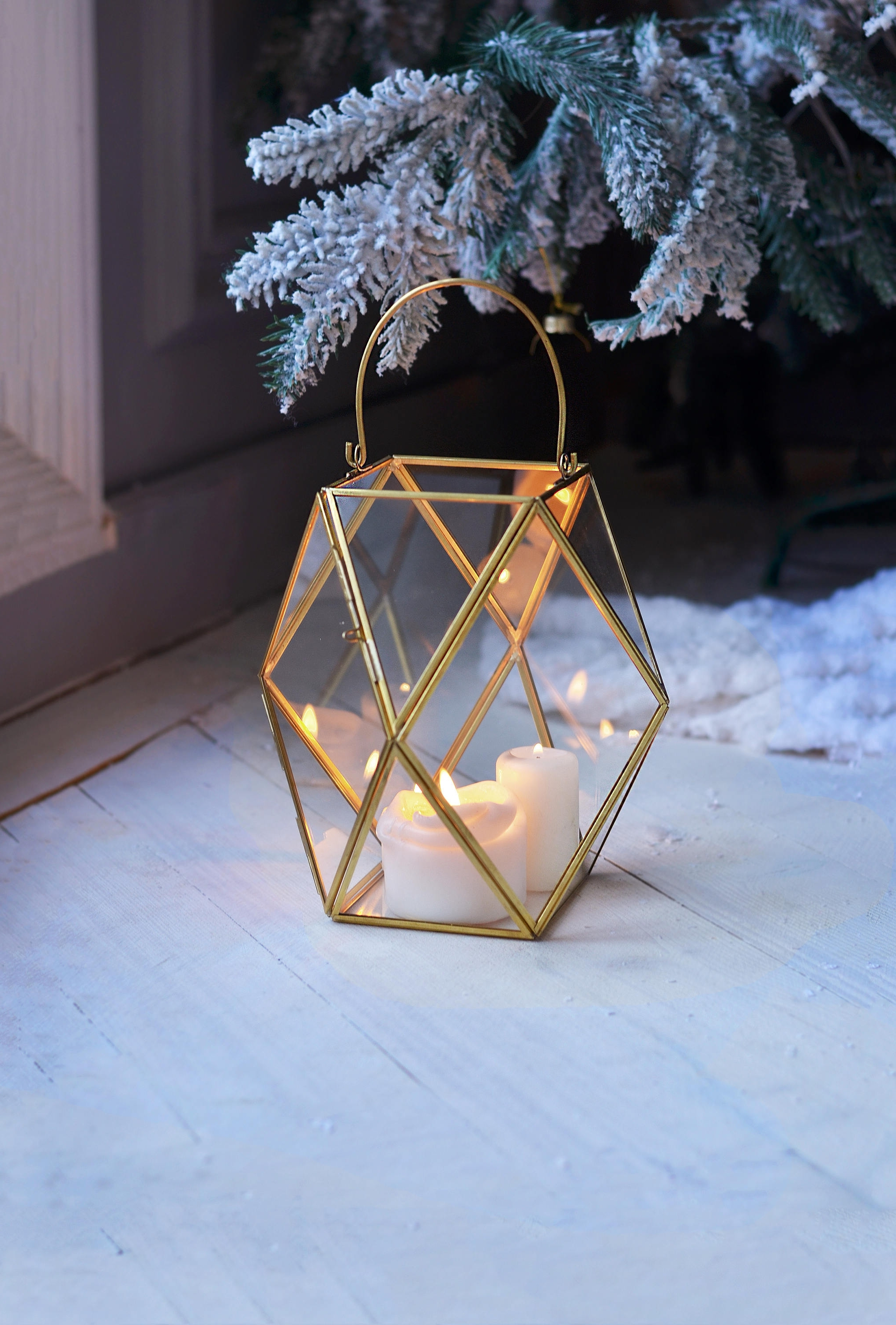 Lantern Centerpiece Geometric Candle Holder Wedding Lantern (View 9 of 20)