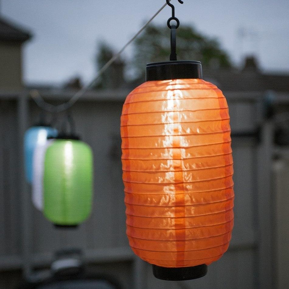 Lantern String Regarding Outdoor Orange Lanterns (Gallery 5 of 20)