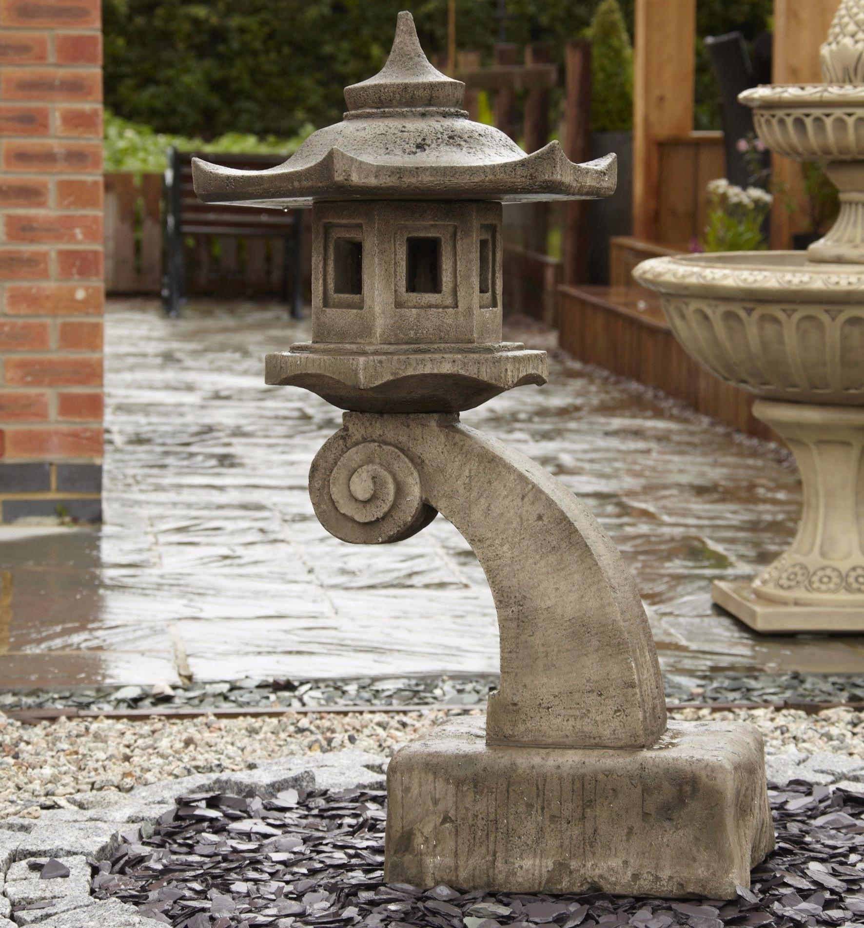 Large Curved Bali Oriental Garden Lantern – Gardensite.co (View 8 of 20)