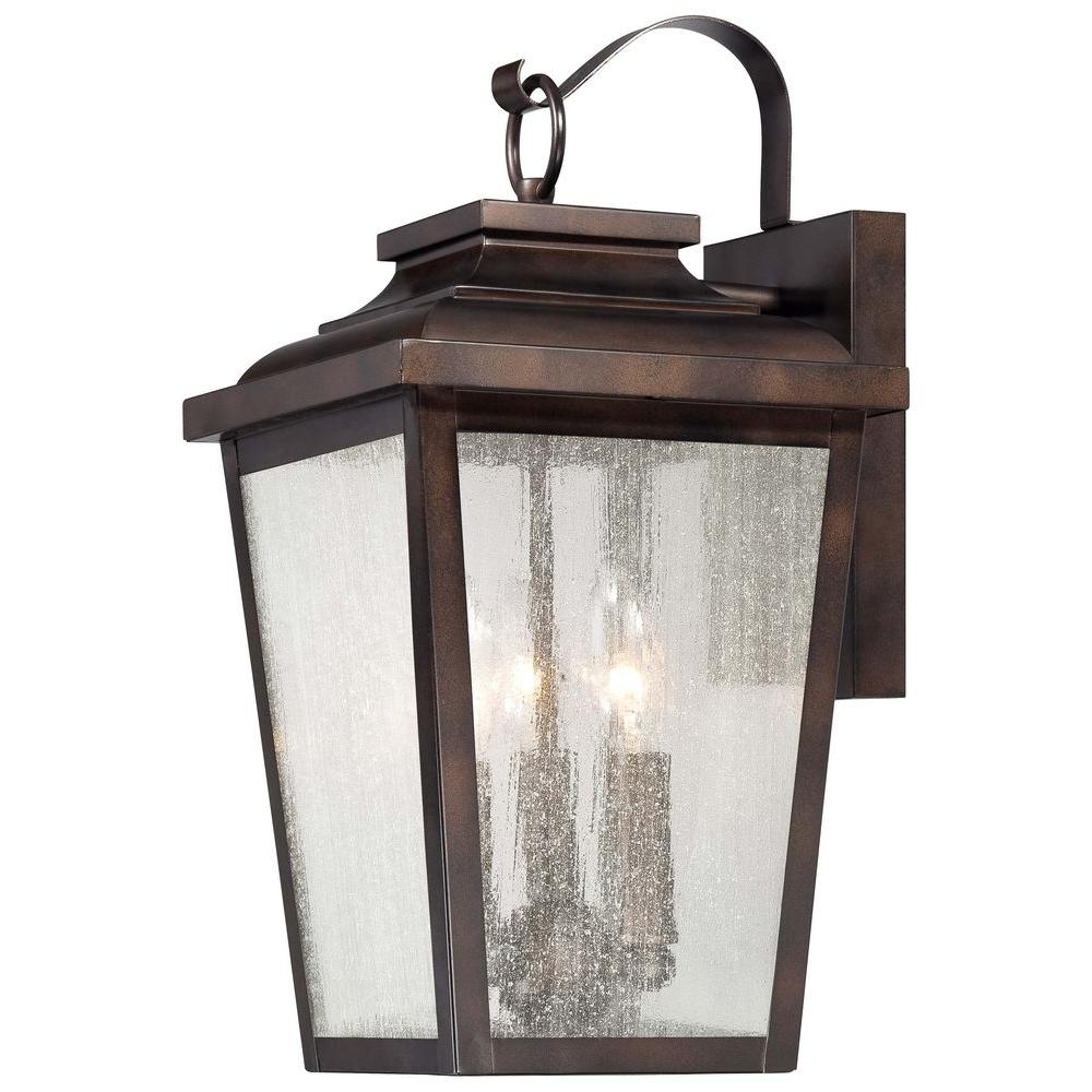 Large Outdoor Rustic Lanterns Throughout 2018 The Great Outdoorsminka Lavery Irvington Manor 3 Light Chelsea (View 12 of 20)