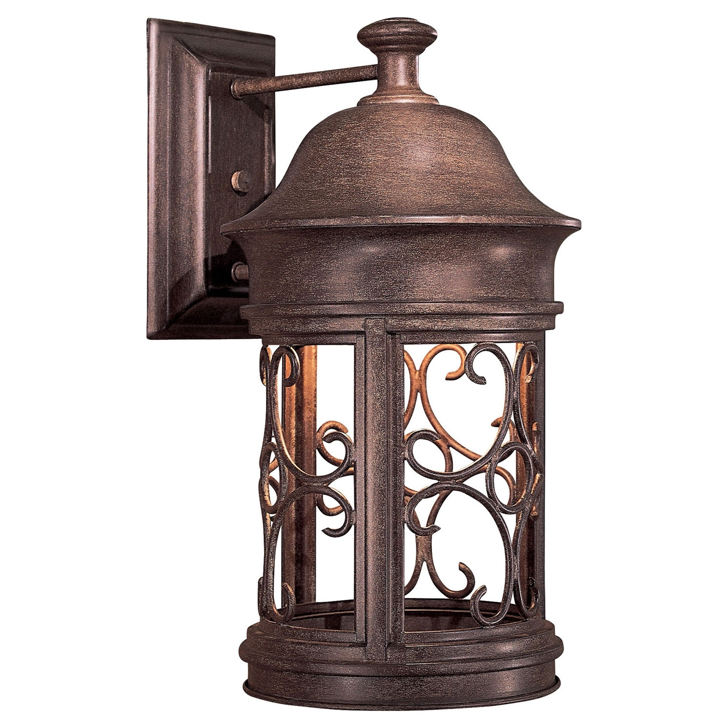Large Outdoor Wall Lanterns Intended For Newest Minka Lavery Sage Ridge Dark Sky Large Outdoor Wall Mount 8282 A (View 20 of 20)