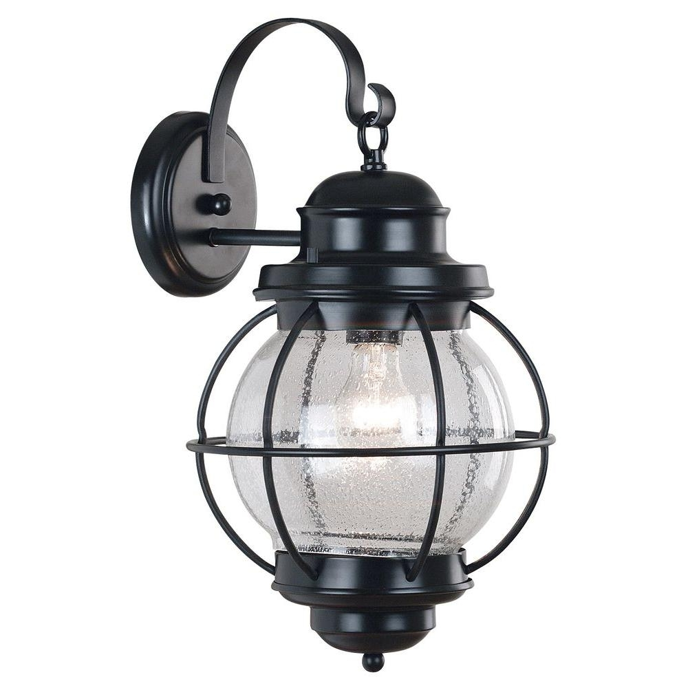 Large Outdoor Wall Lanterns Regarding Newest Kenroy Home Hatteras 1 Light Black Large Wall Lantern 90963Bl – The (View 8 of 20)