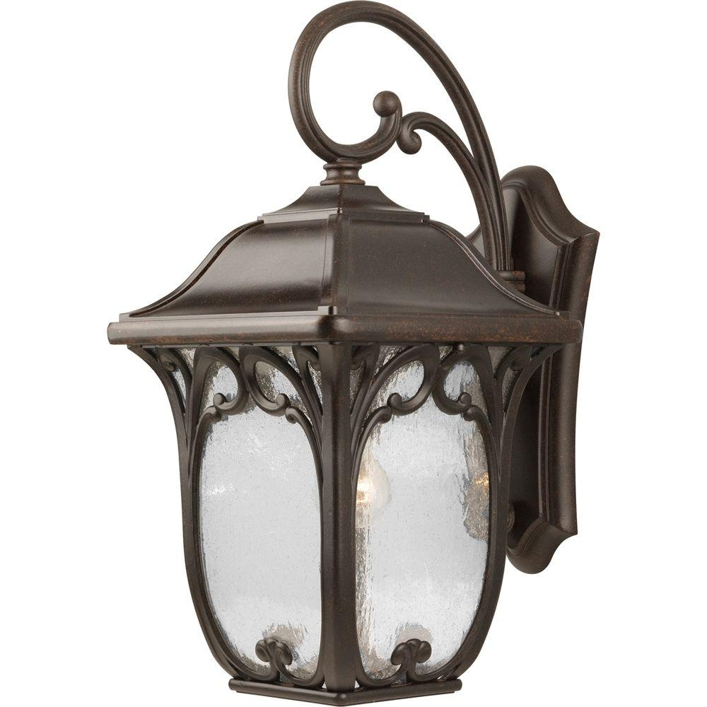 Large Outdoor Wall Lanterns With Favorite Progress Lighting Enchant Collection Large Espresso Outdoor Wall (Gallery 6 of 20)