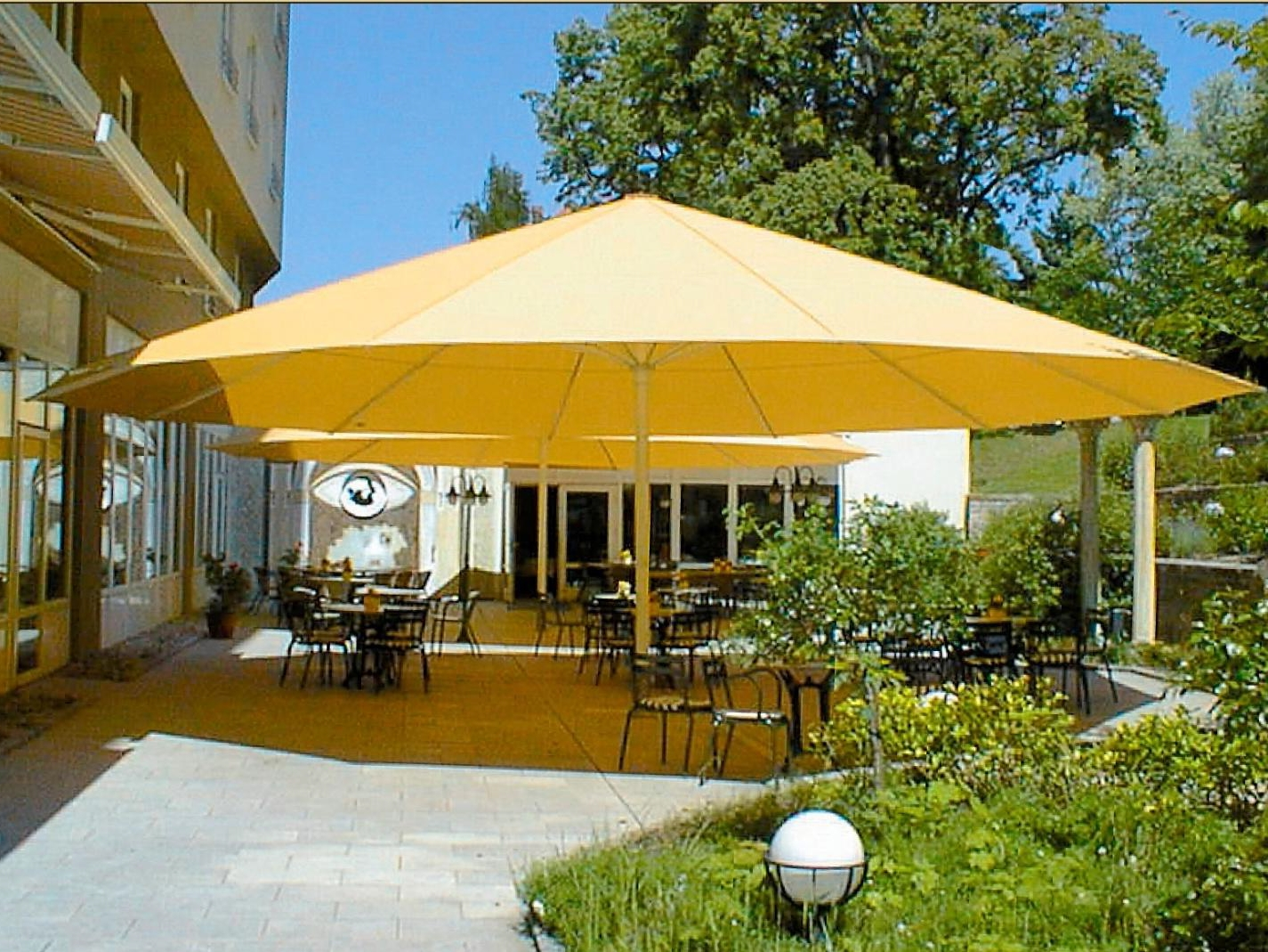 Large Patio Umbrellas With Regard To Favorite 45 Large Patio Umbrella, Zeta Large Umbrellas Large Parasols Apex (Gallery 16 of 20)