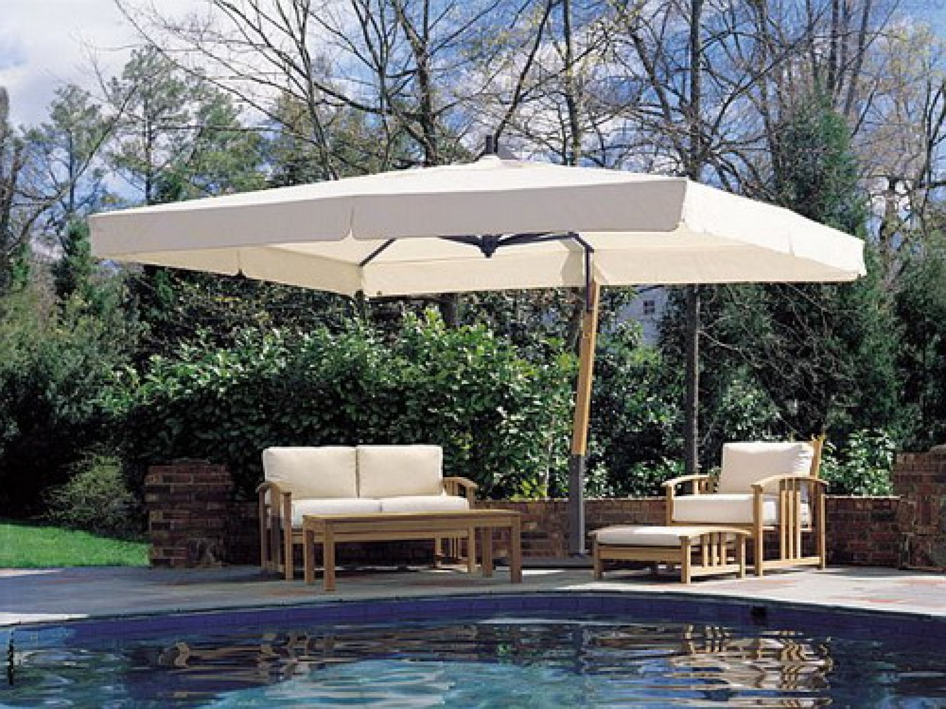 Latest Great Rectangle Patio Umbrella Designs Ideas – Printableboutique Regarding Rectangle Patio Umbrellas (Gallery 16 of 20)