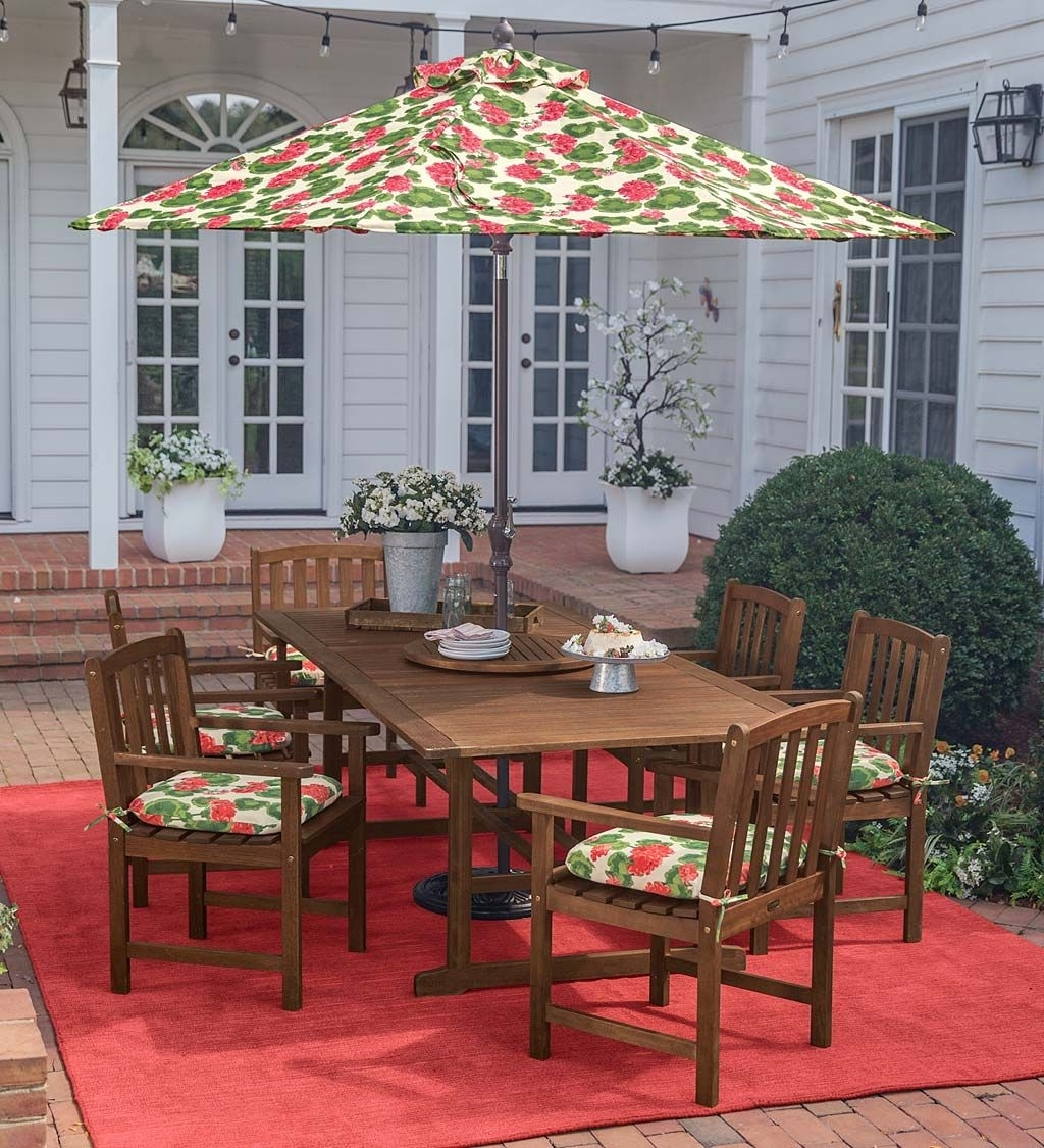 Latest Jewel Patio Umbrellas With Indoor/outdoor Amelia Island Rug #rug #patio #patiodesigns (Gallery 4 of 20)
