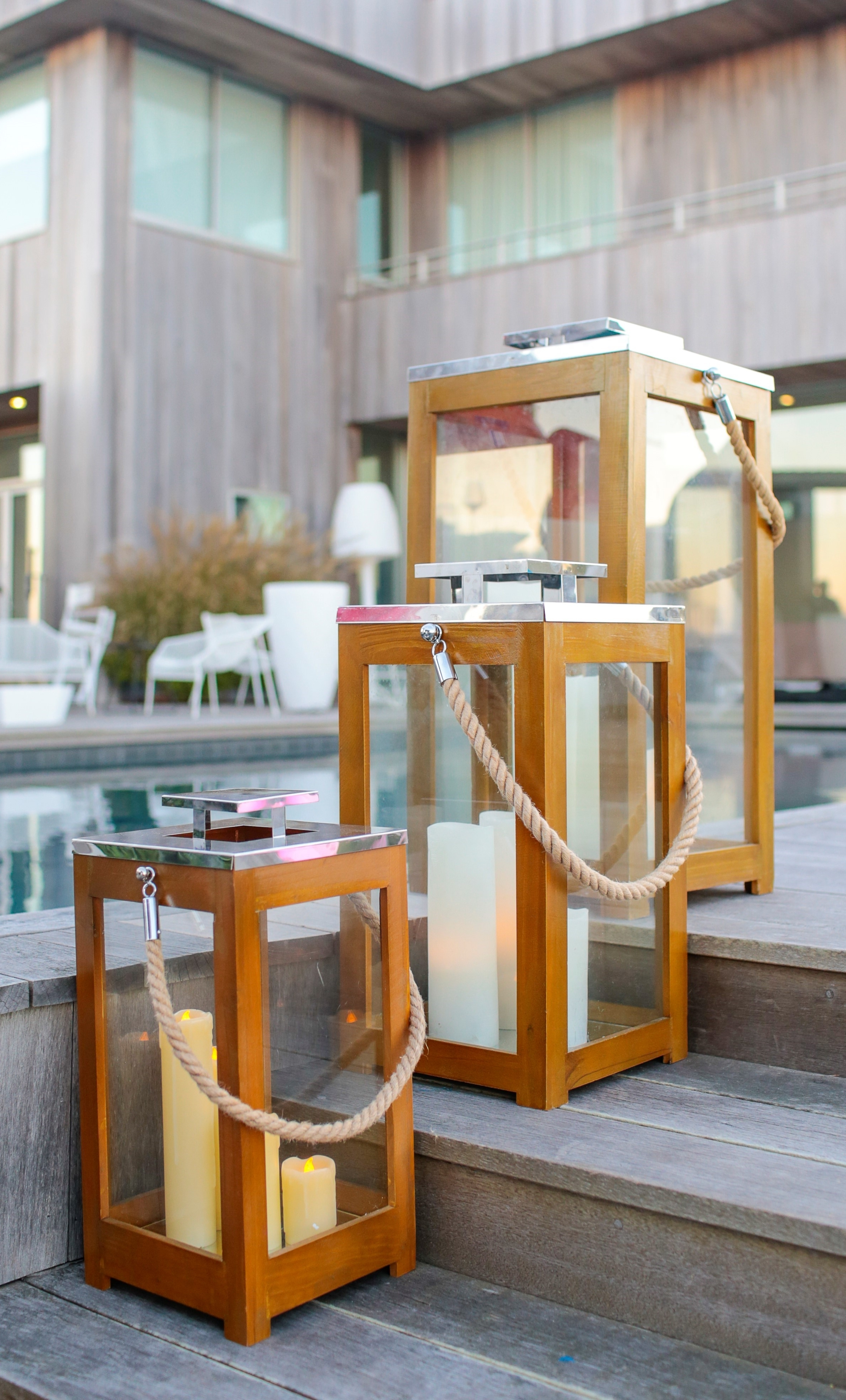 Latest Lanterns Teak Rope – Couture Outdoor Intended For Outdoor Teak Lanterns (View 5 of 20)