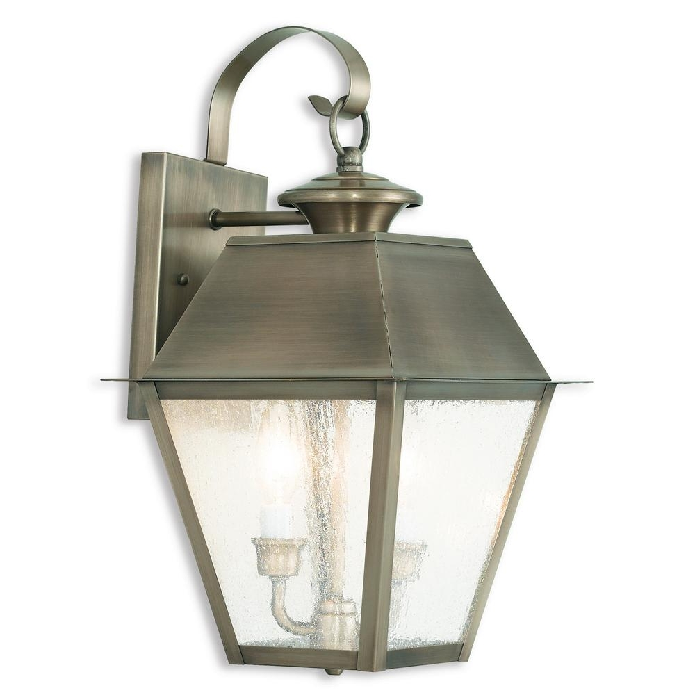 Latest Livex Lighting Mansfield 3 Light Vintage Pewter Outdoor Wall Mount Throughout Outdoor Vintage Lanterns (View 15 of 20)