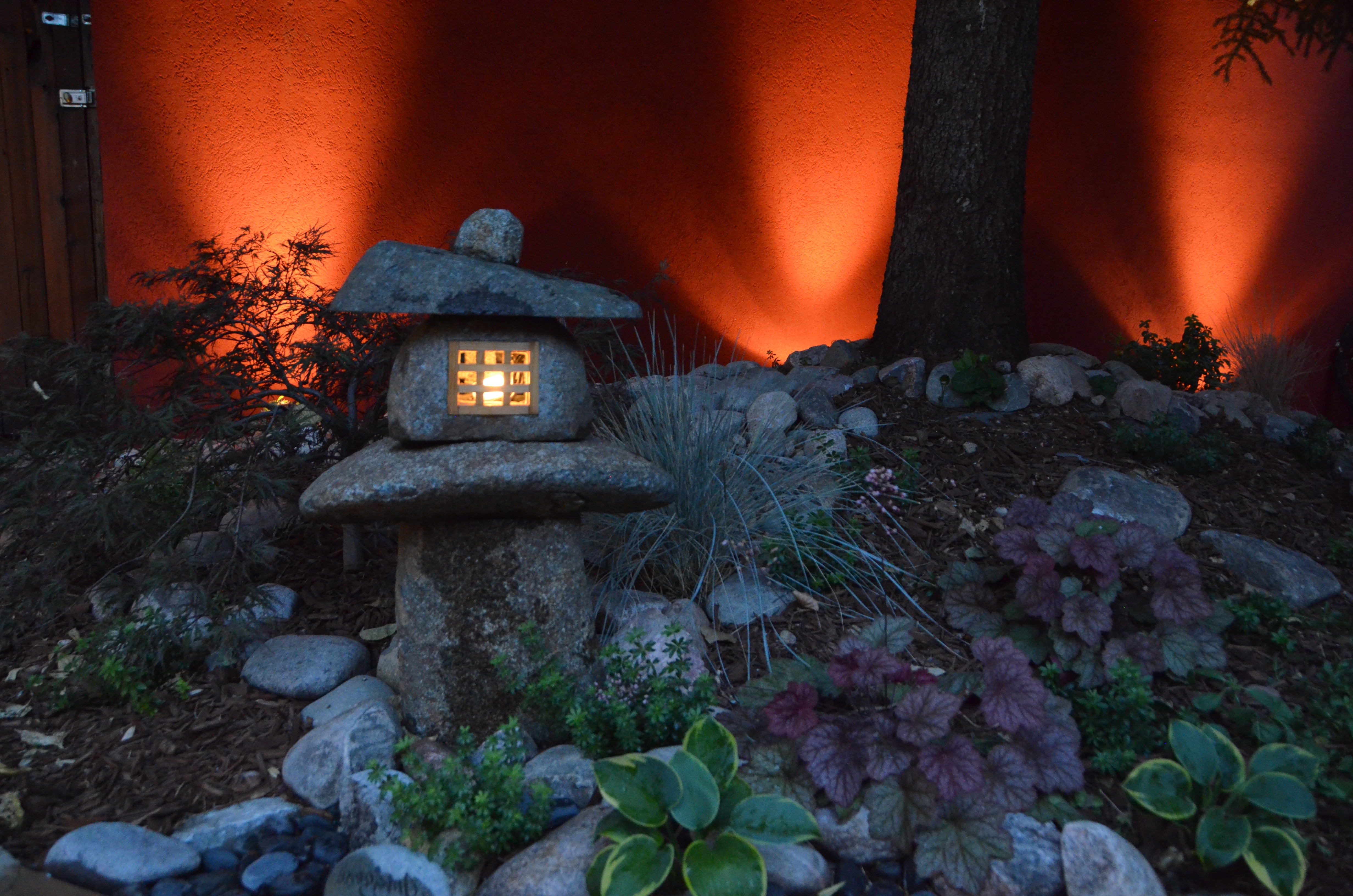 Latest Outdoor Japanese Lanterns Within Japanese Lantern With Outdoor Lighting – Landscaping In Denver (View 9 of 20)