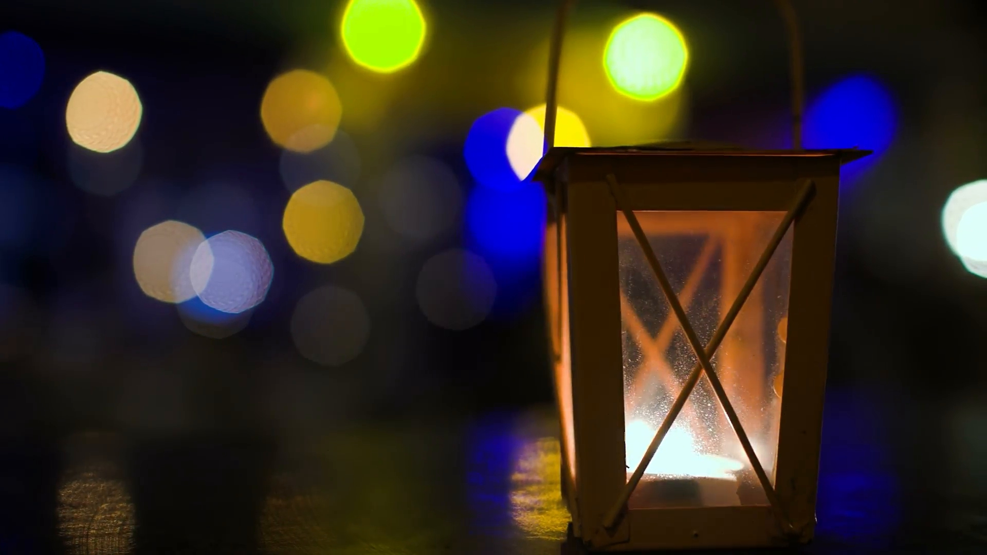 Latest Outdoor Lantern With Lit Candle At Night (View 10 of 20)