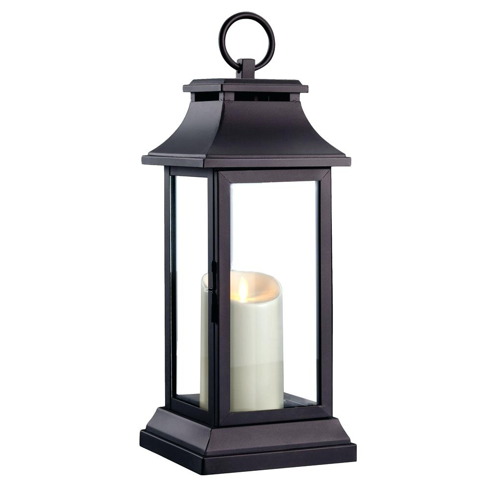 Latest Outdoor Lanterns With Candles Throughout Candles ~ Garden Candle Lantern Black Metal Outdoor Lanterns S (View 9 of 20)