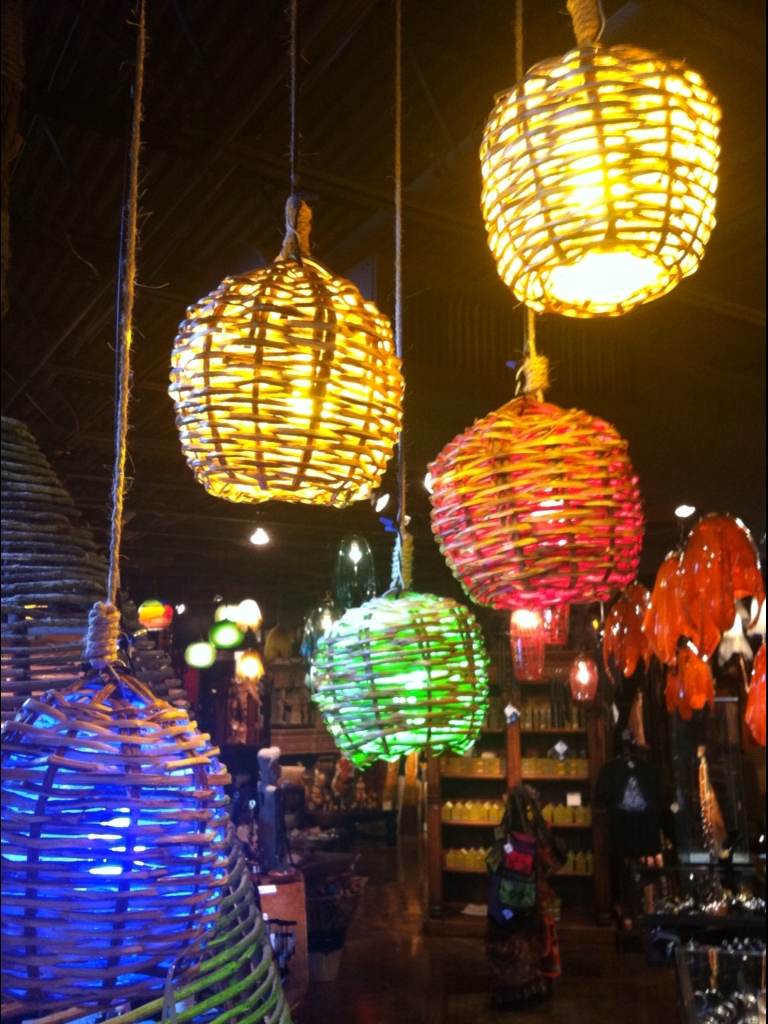 Latest Outdoor Tropical Lanterns Pertaining To Basket Lights As Decorative Lanterns – No Mas! Productions (View 4 of 20)