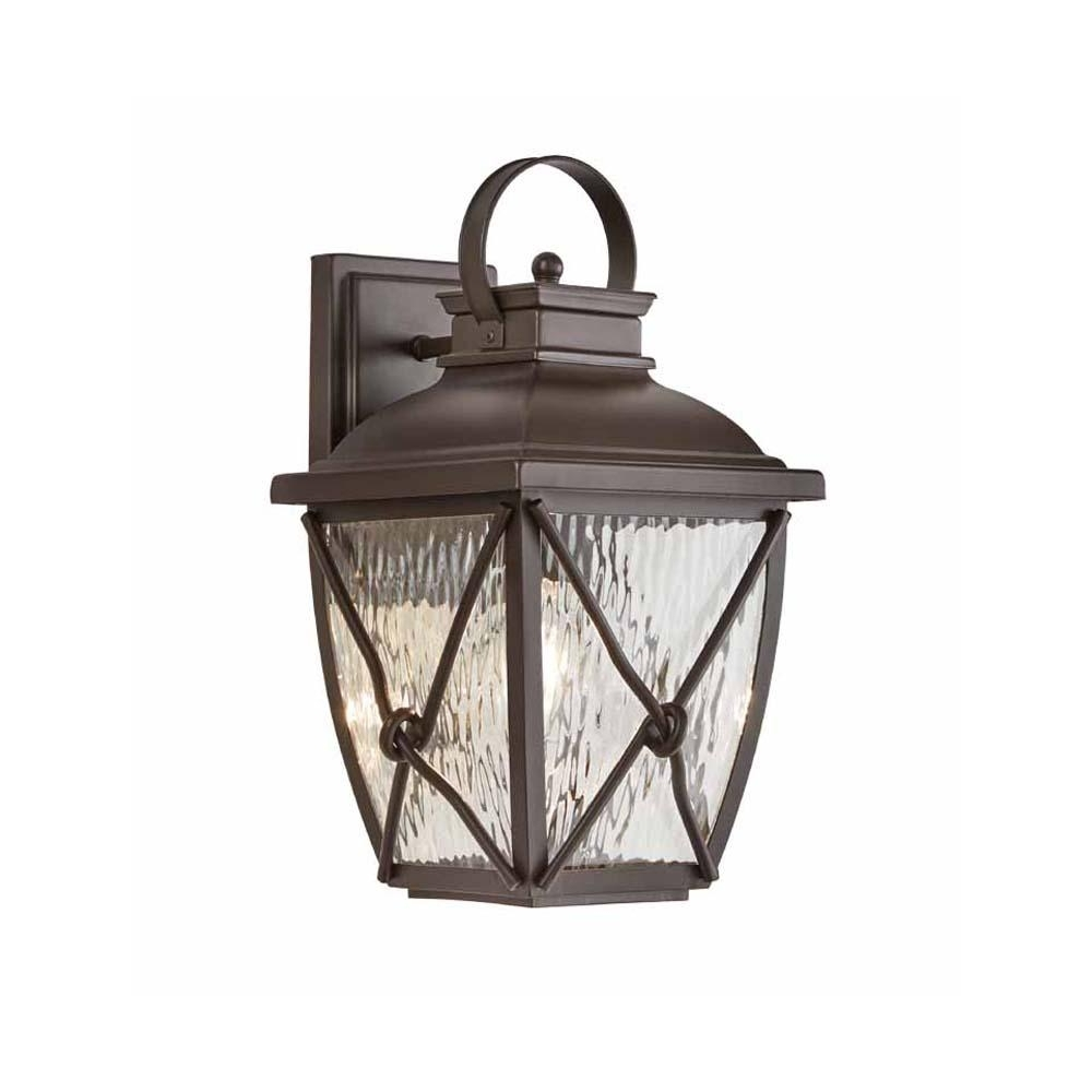 Latest Outdoor Vinyl Lanterns With Regard To Home Decorators Collection Springbrook 1 Light Rustic Outdoor Wall (View 5 of 20)