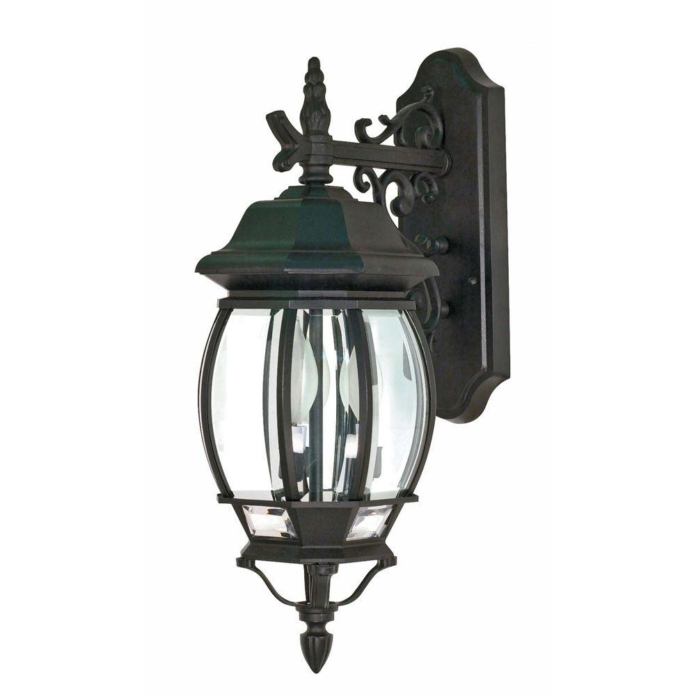 Latest Outdoor Weather Resistant Lanterns In 3 Light Outdoor Black Wall Lantern Incandescent Lamp Weather (View 9 of 20)