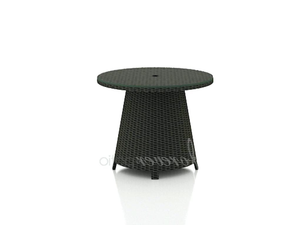 Latest Patio Umbrella Side Tables Inside Thresholdtm Heatherstone Wicker Patio Umbrella Side Table • Side (View 9 of 20)