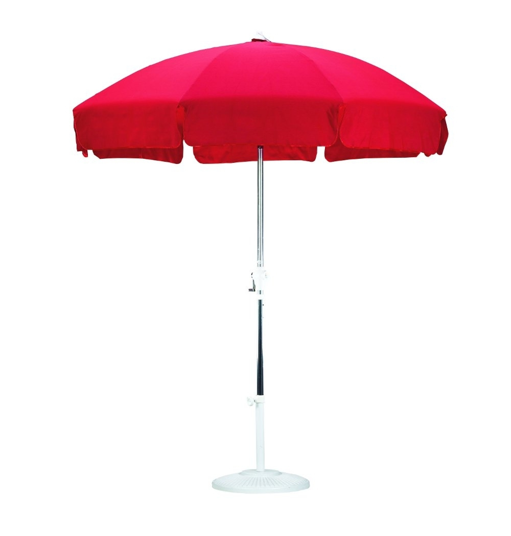 Latest Patio Umbrellas With Valance Regarding Sunline (View 15 of 20)