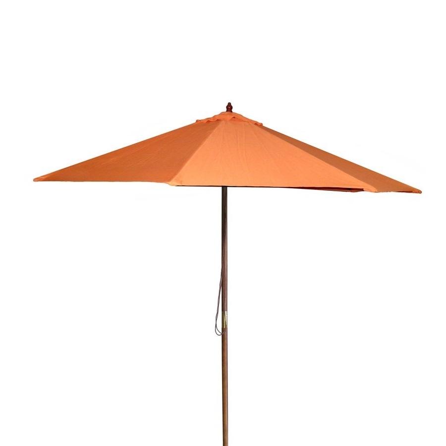 Latest Shop Jordan Manufacturing Orange Market 9 Ft Patio Umbrella At Lowes With Jordan Patio Umbrellas (View 3 of 20)