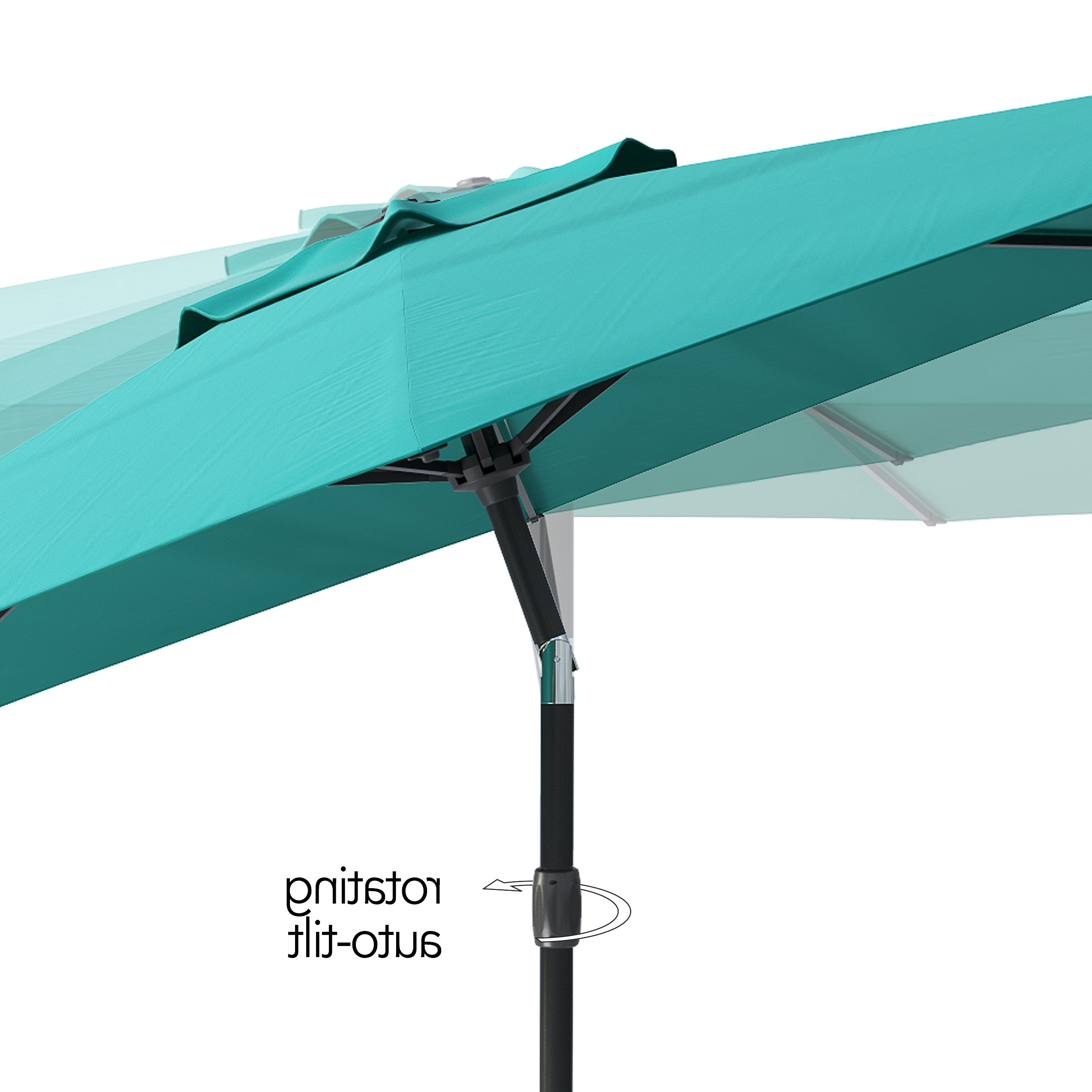 Latest Tilting Patio Umbrellas With Regard To Shop Corliving Uv And Wind Resistant Tilting Patio Umbrella – Free (View 4 of 20)