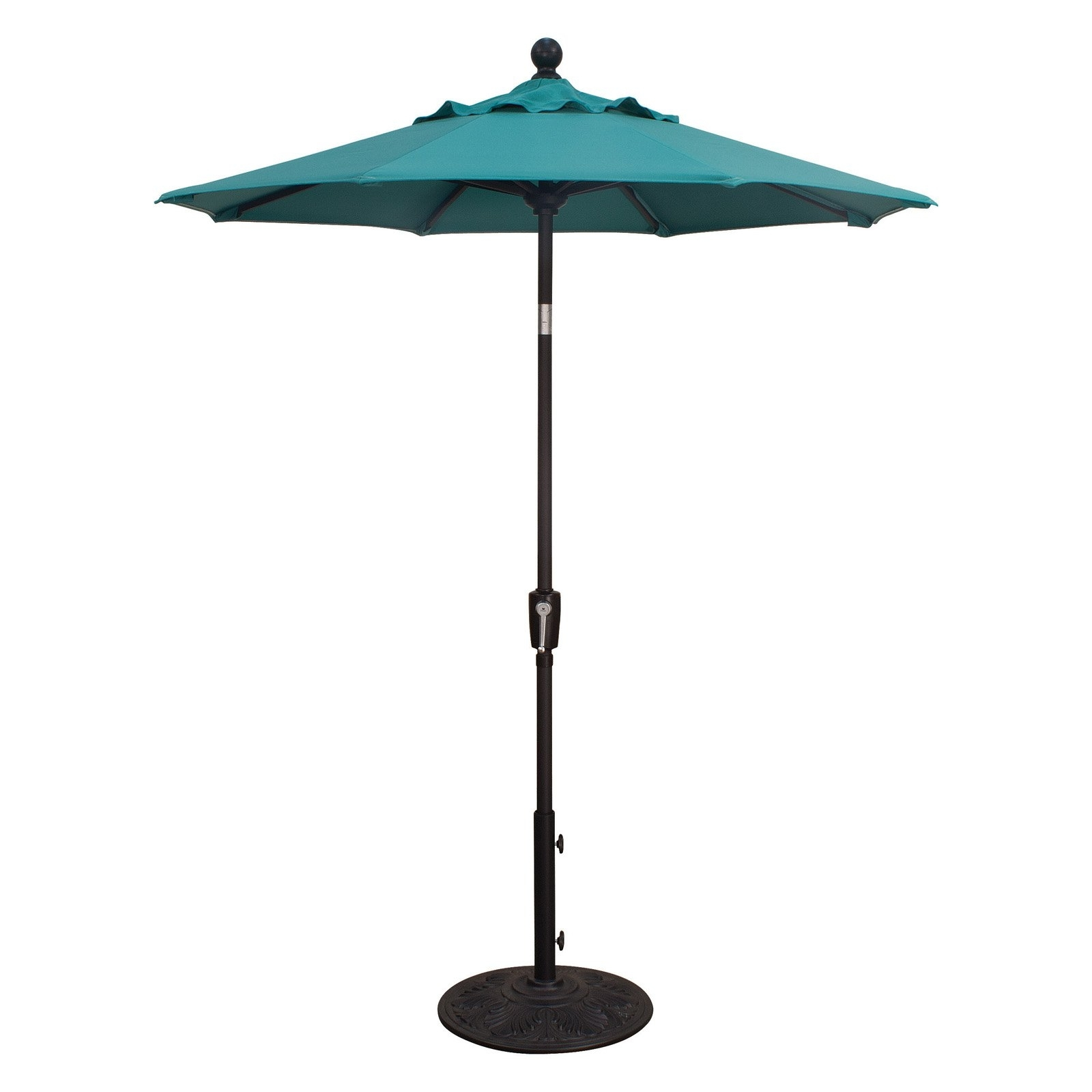 Latest Treasure Garden 6 Ft. Sunbrella Aluminum Push Button Tilt Patio Within Sunbrella Patio Umbrellas (Gallery 16 of 20)