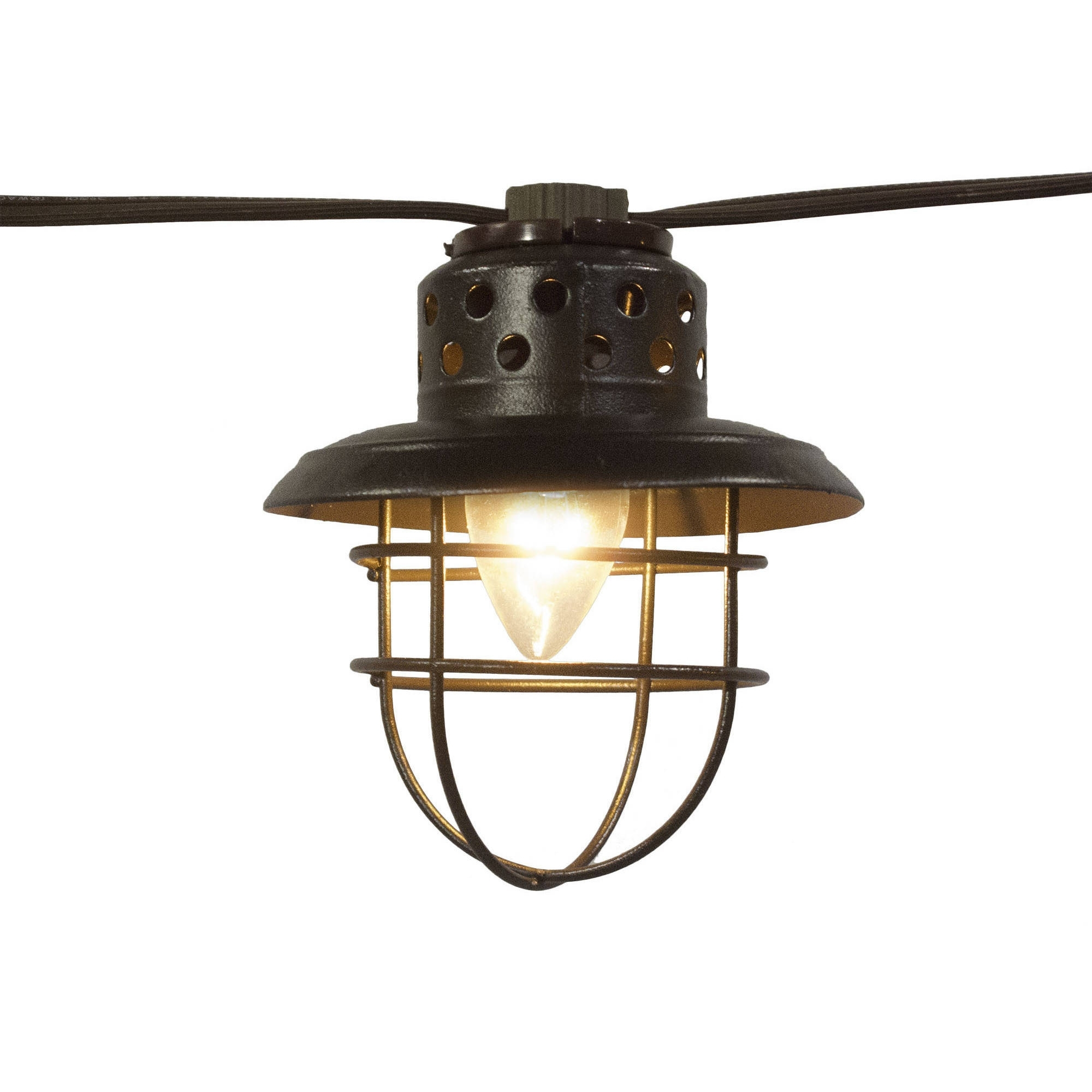 Latest Walmart Outdoor Lanterns In Better Homes And Gardens Outdoor Vintage Cage Lantern String Lights (View 8 of 20)
