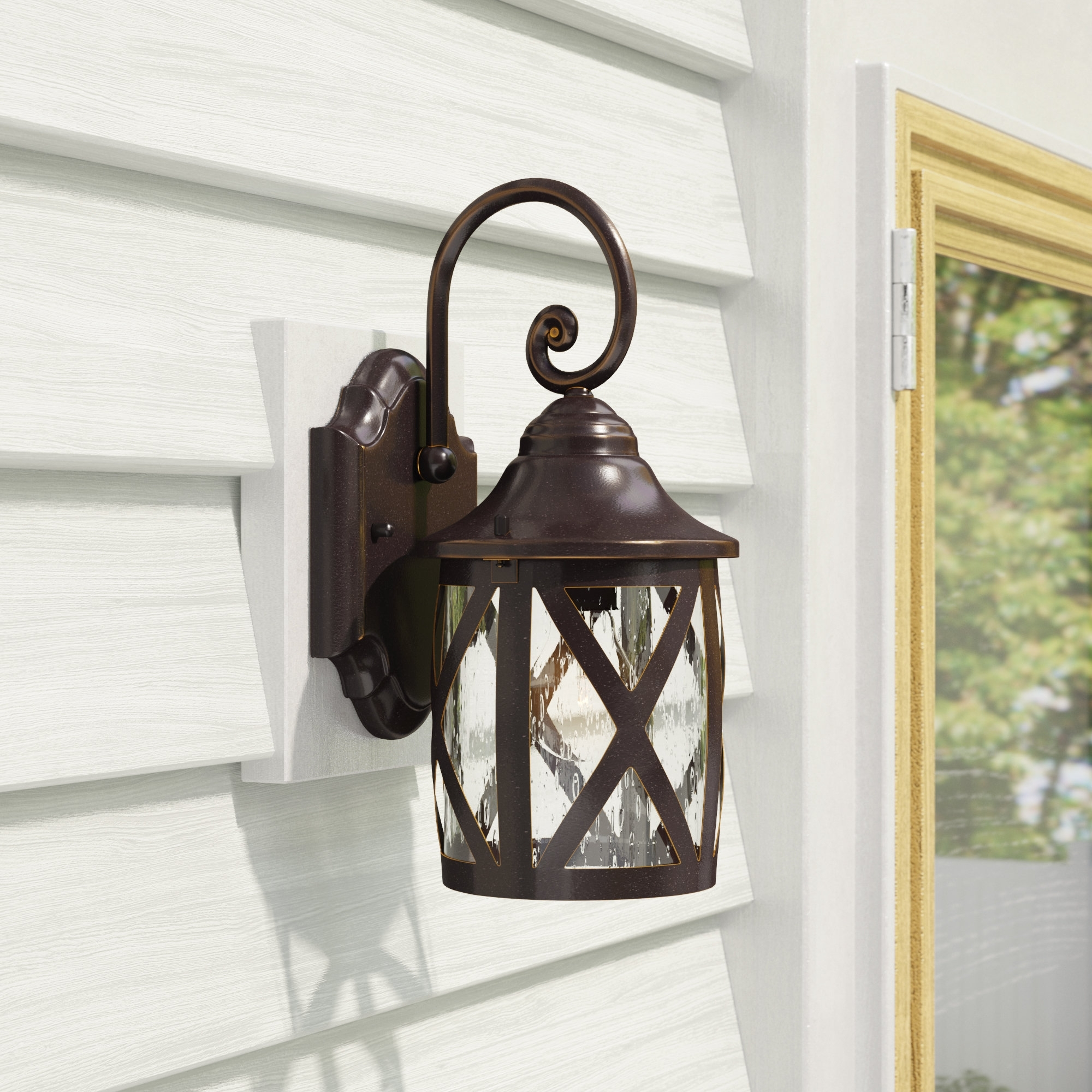 Laurel Foundry Modern Farmhouse Landon 1 Light Outdoor Wall Lantern With Regard To Fashionable Outdoor Vinyl Lanterns (View 18 of 20)