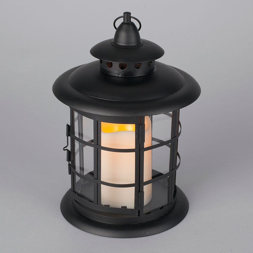 Led Metal & Resin Battery Operated Flameless Candle Lantern In Most Current Resin Outdoor Lanterns (View 16 of 20)