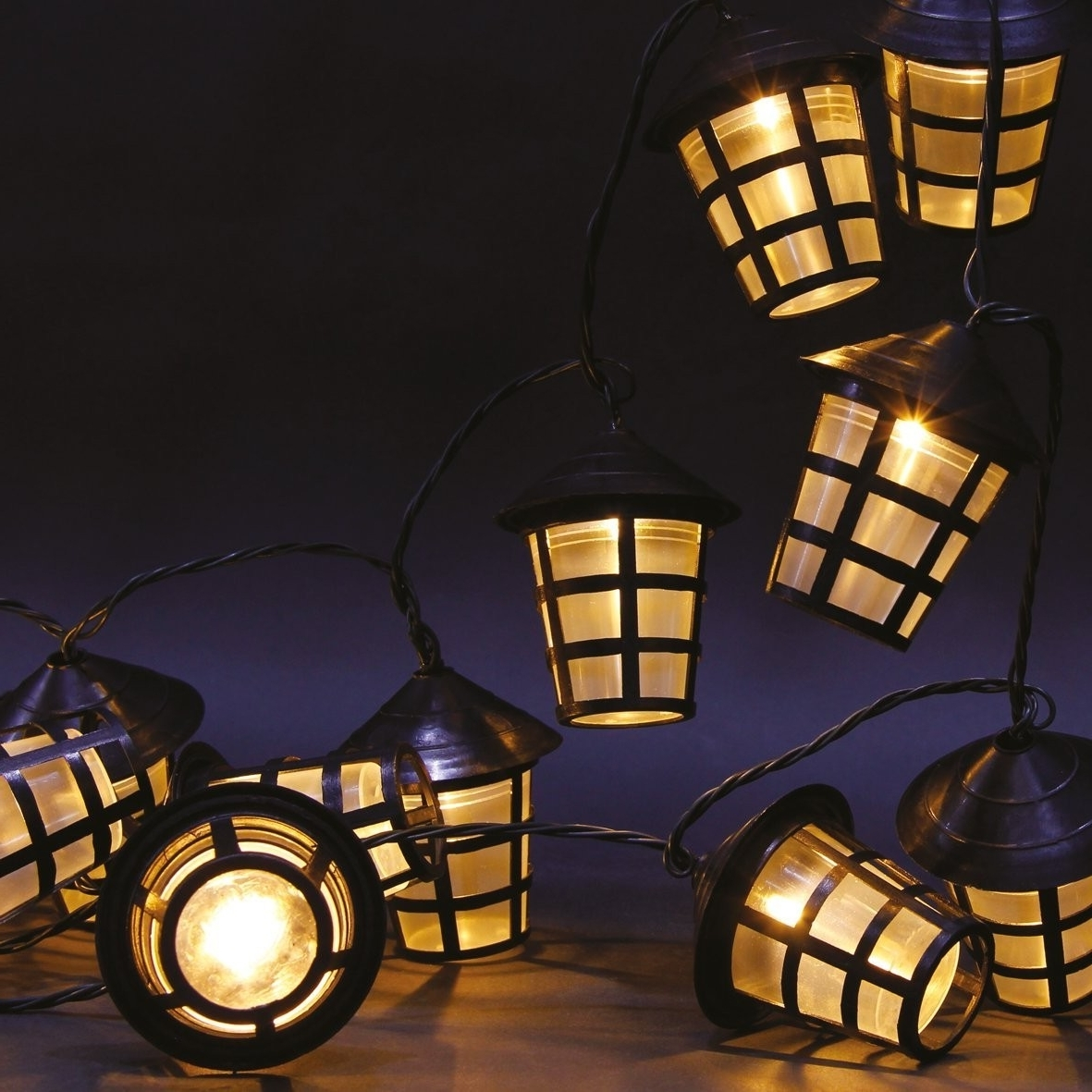Led Outdoor Lanterns In Most Current 70 Warm White Led Garden Lantern String Lights (View 4 of 20)